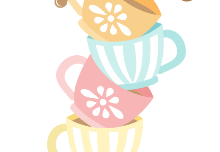 Tea party png. Download free for moms