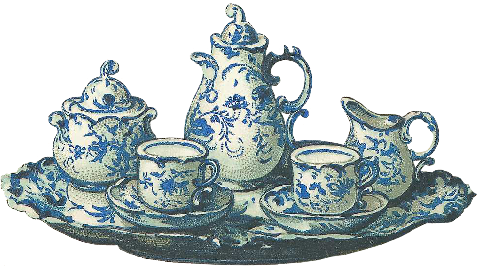 Tea set png. Picture all