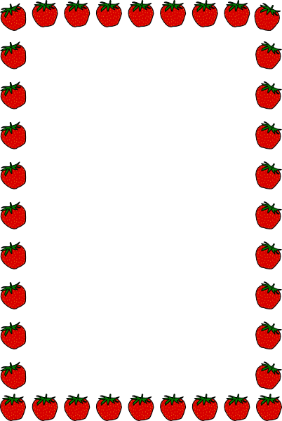Teacher borders png. Strawberry border clip art