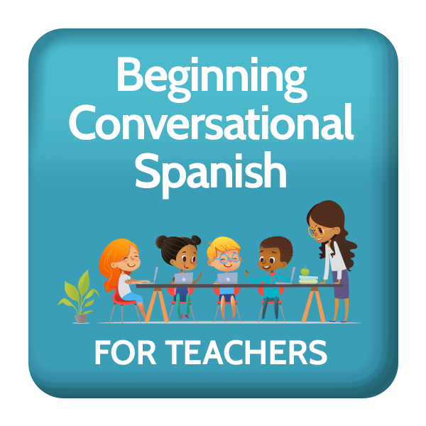 Beginning conversational skills for. Teacher clip spanish png free stock