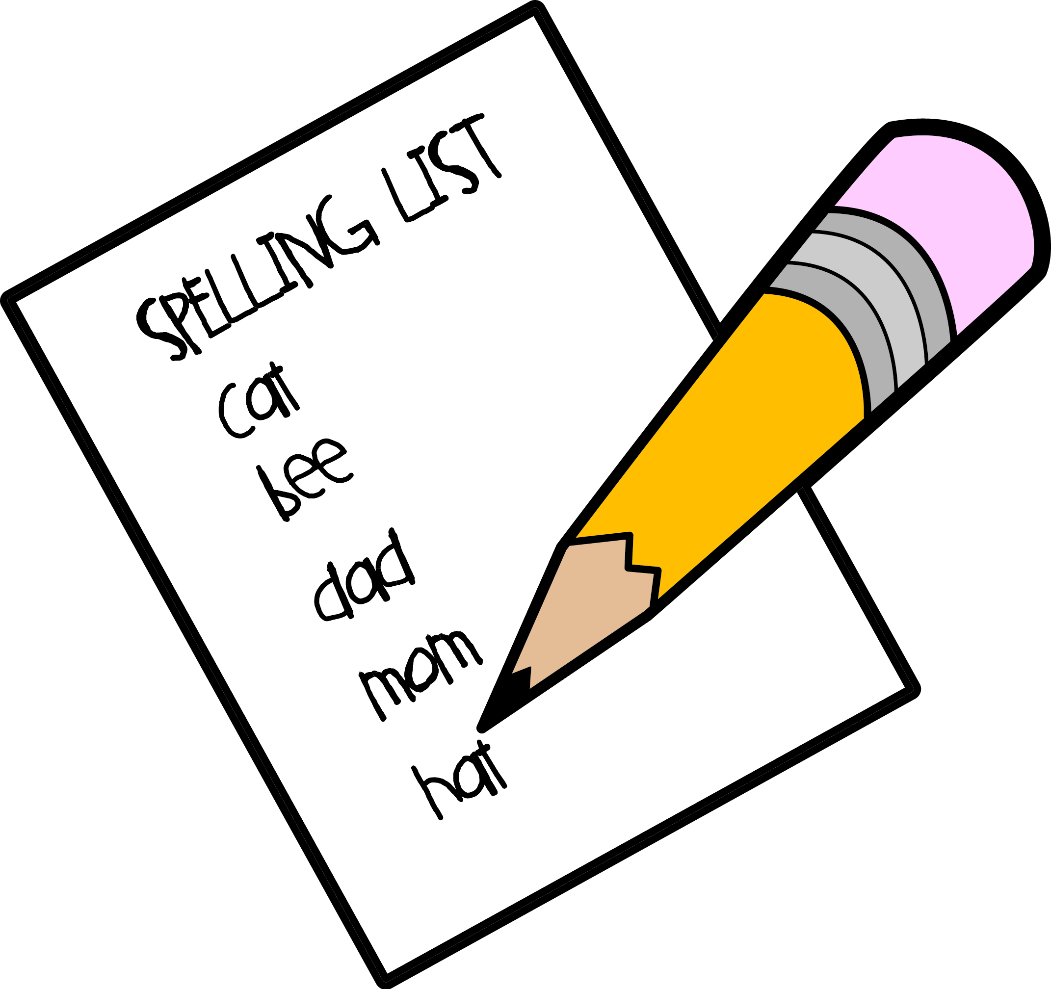 This is best list. Spelling clipart png royalty free