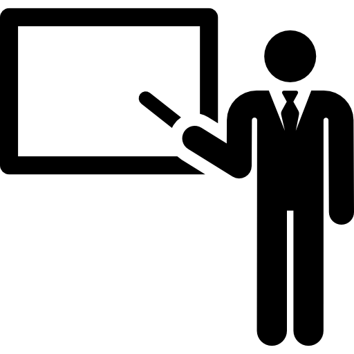 Teacher pointing stick png. Teaching icon svg
