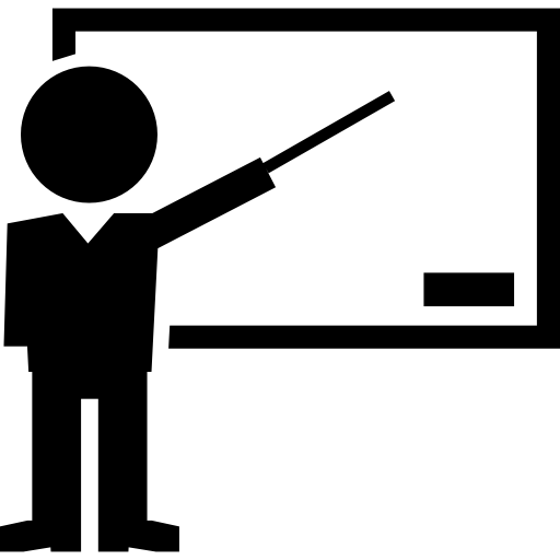 Teacher pointing stick png. Teaching icon page svg