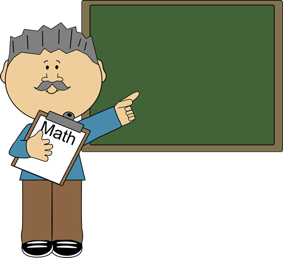 Teacher clip animated. Man math art vector