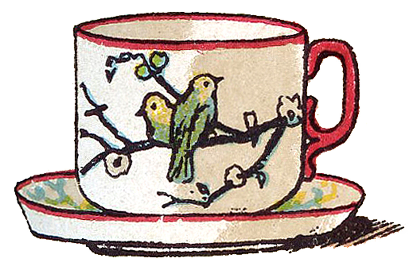 Teacup clipart 6 cup. Victorian image sweet with