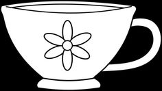 Teacup clipart. Teapots cutout templates