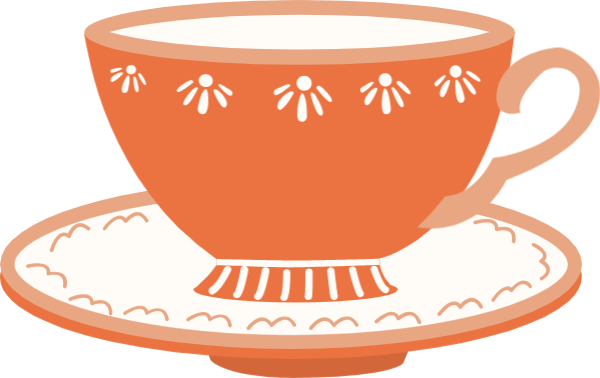 Teacup clipart orange. Free online and saucer