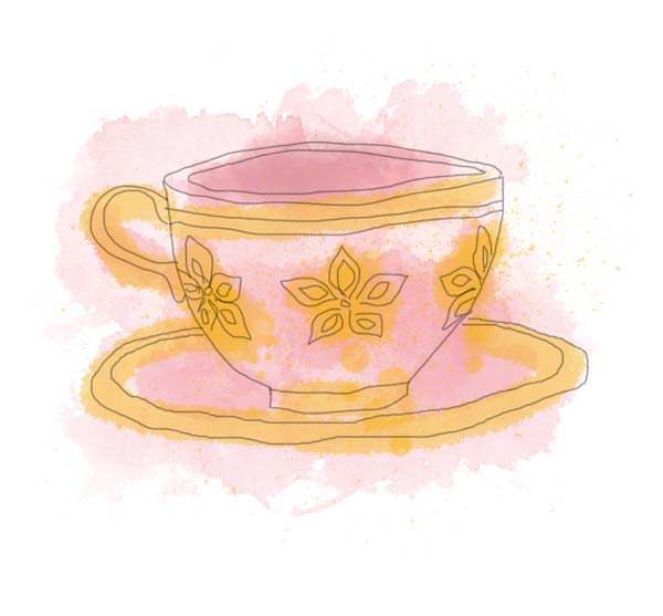 Teacup clipart orange. Elegant tea party