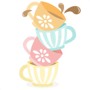 Teacup svg clip art. Tea cups stacked cutting