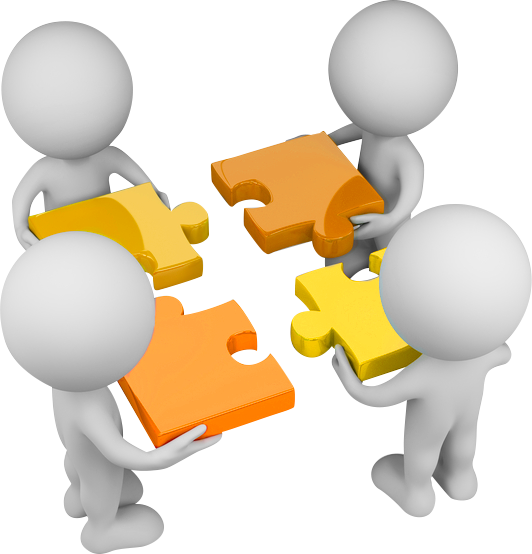 Service cooperation dpersonteamworkwithpuzzles. Sharing clipart understanding person jpg transparent