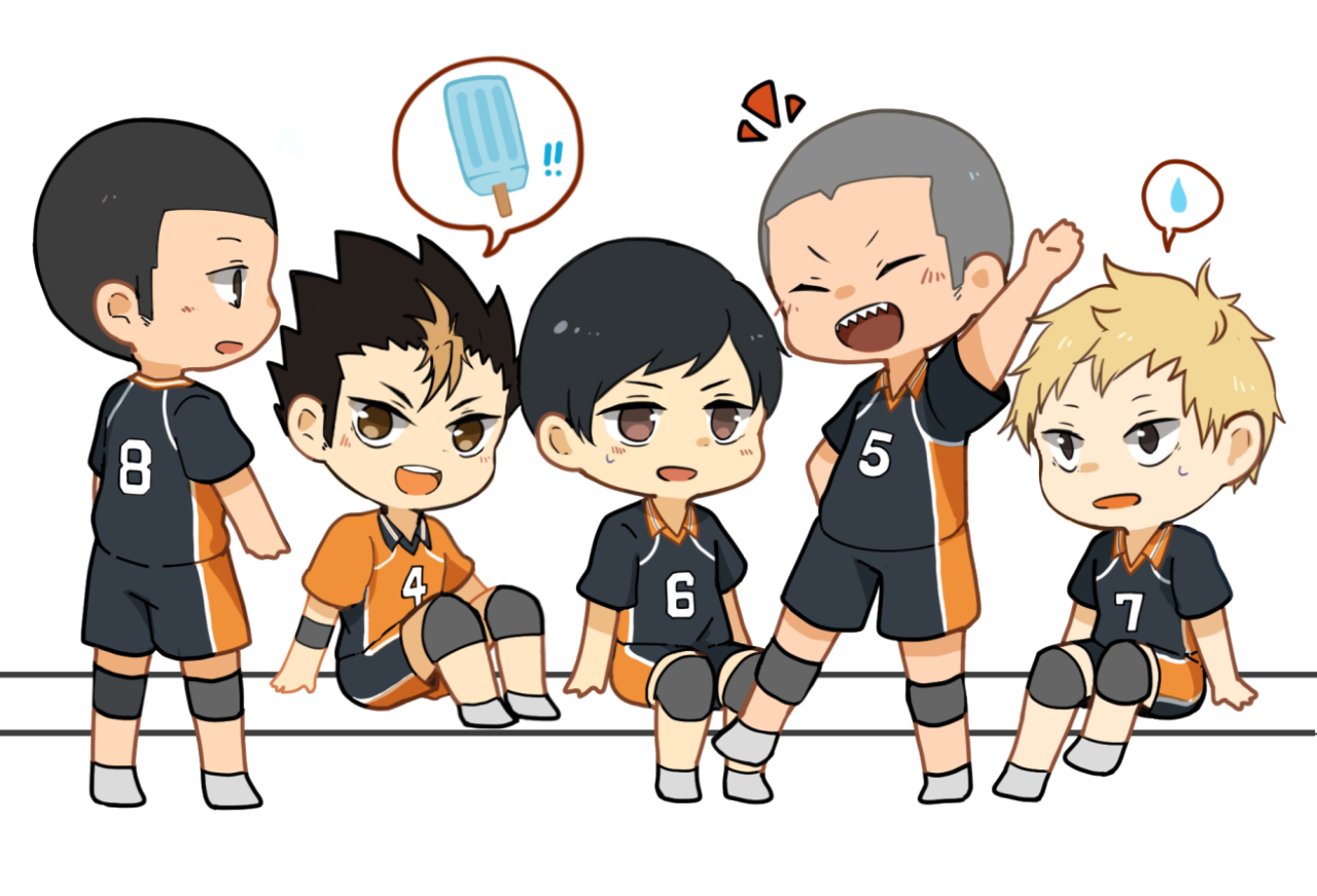 transparent haikyuu karasuno crows