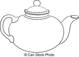 Teapot clipart. And stock illustrations vector jpg library stock