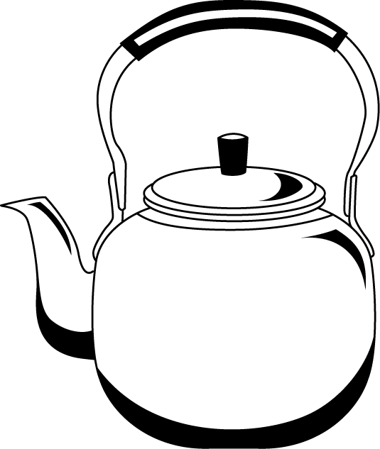kettle drawing old fashioned