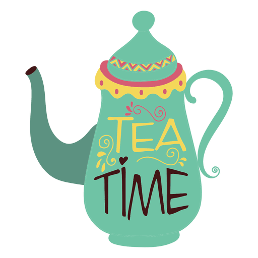 Teapot with flowers png. Tea coffee transparent svg