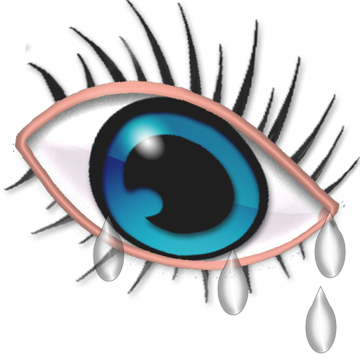 teardrops drawing eye