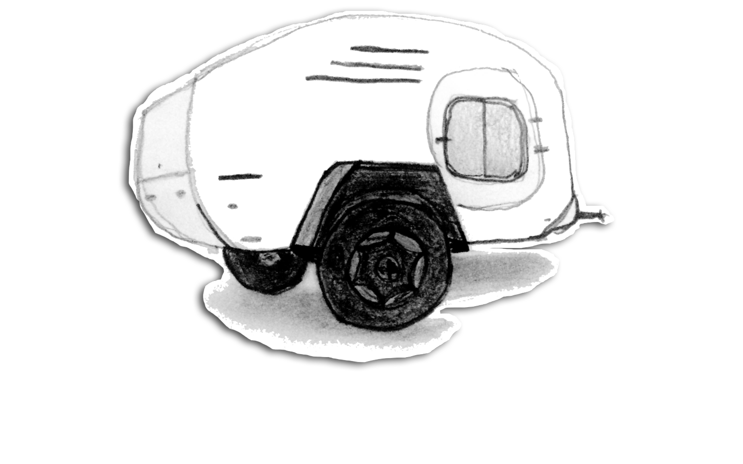 Teardrops drawing. Teardrop living overland backpacking
