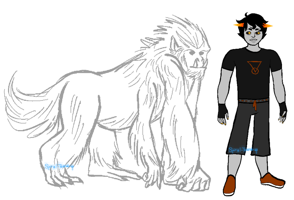 Brownblood gorilla lusus adoptable. Teardrops drawing male png free stock