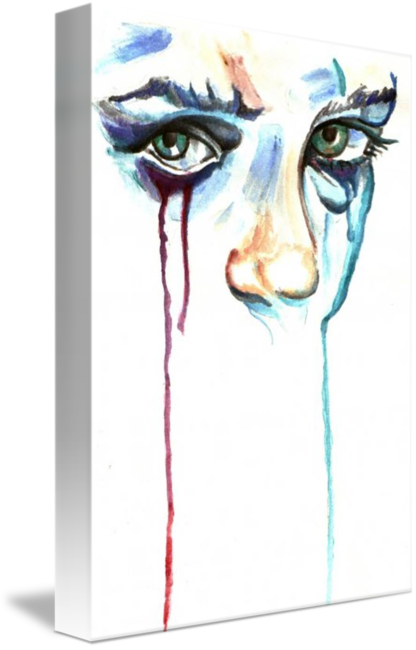 Teardrops drawing watercolor. Teardrop by amit grubstien