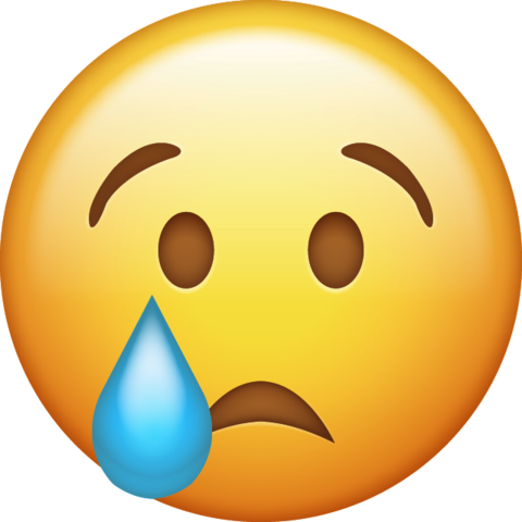 Tears emoji png. Download crying iphone icon