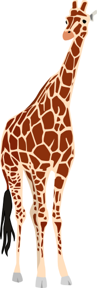 Tears vector animal. Giraffe clip art tear