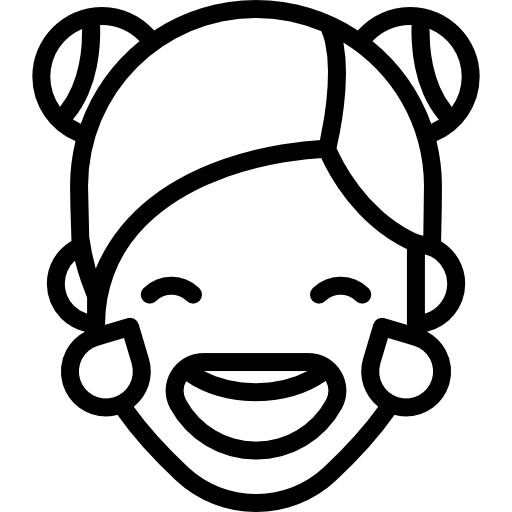 Tears vector color paper. Girl laughing to icons