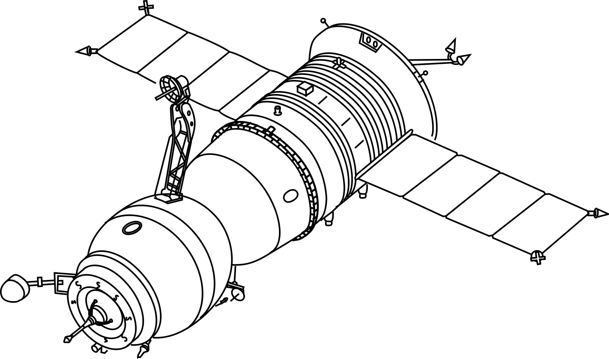 Spacecraft drawing technical. Soyuz transparent png stickpng