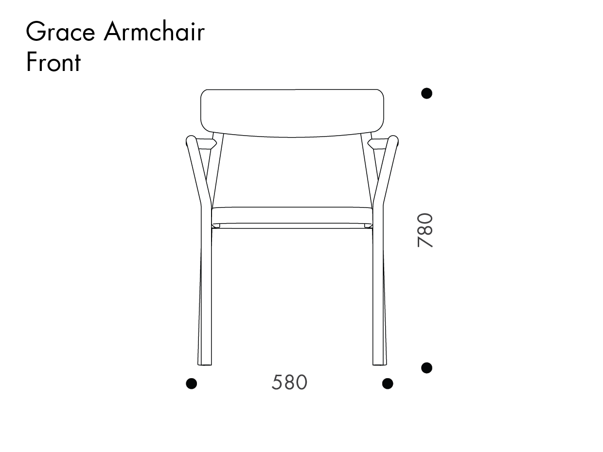 Armchair drawing furniture line. Grace