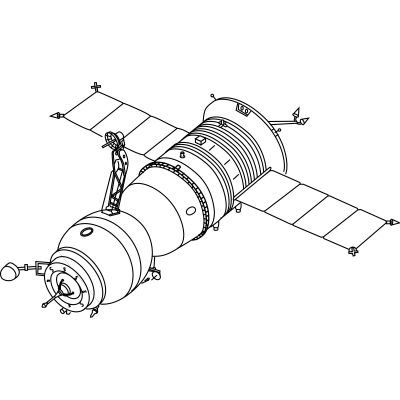 Tec drawing clipart. Soyuz technical transparent png