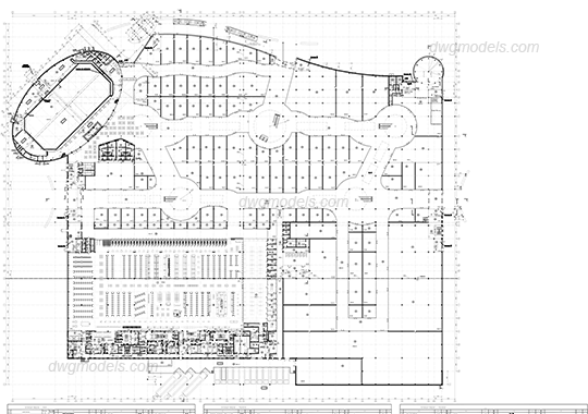 Collection of free mall. Tec drawing complex vector black and white