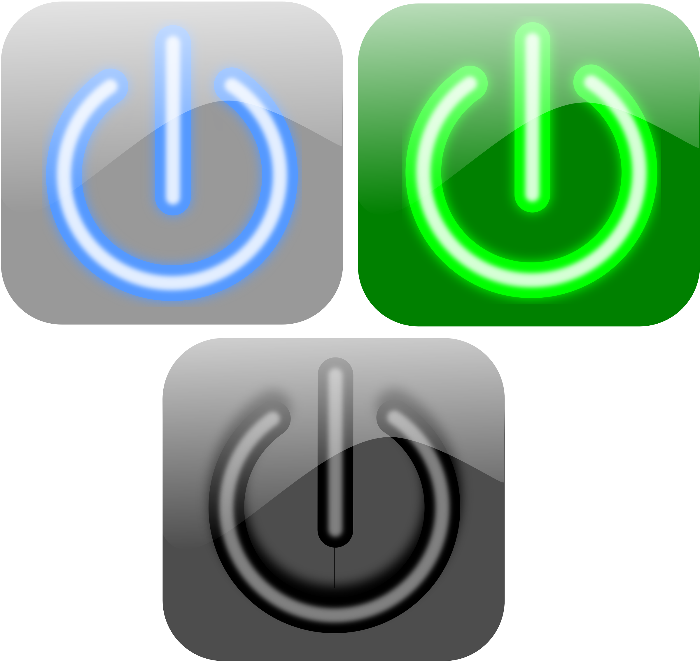 Tech buttons png. Turn off button icons