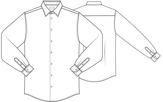 Tech drawing blouse. Collection of mens