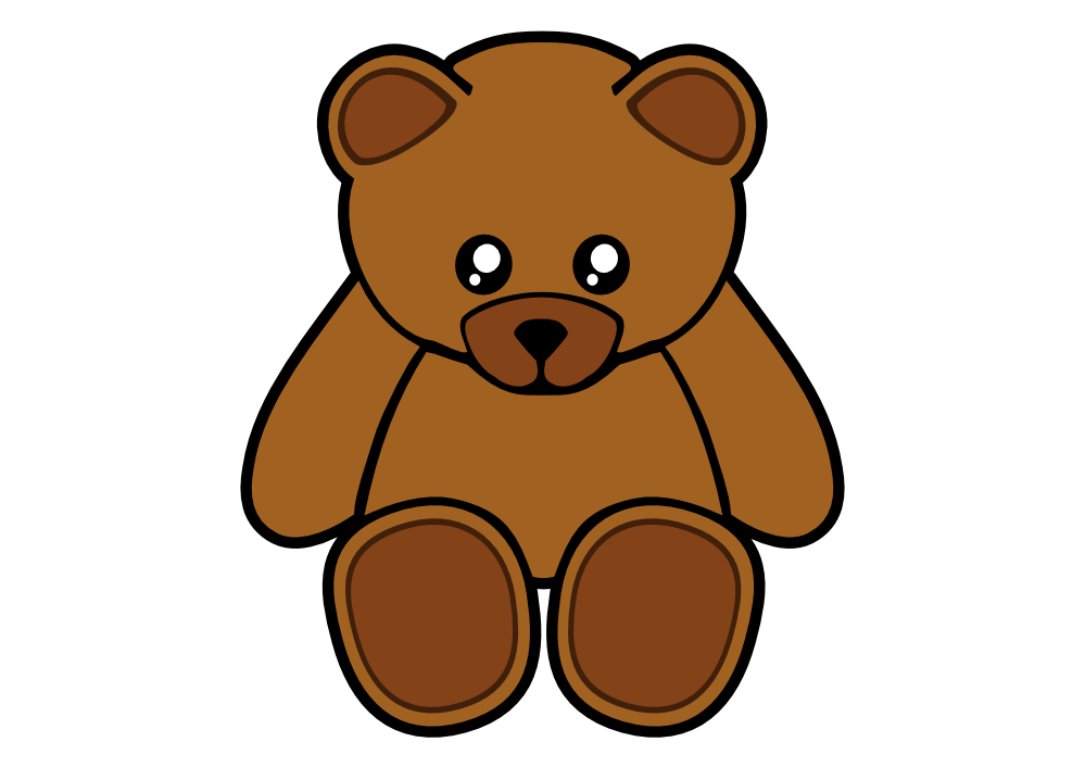 teddy vector stock. Ted clip image black and white