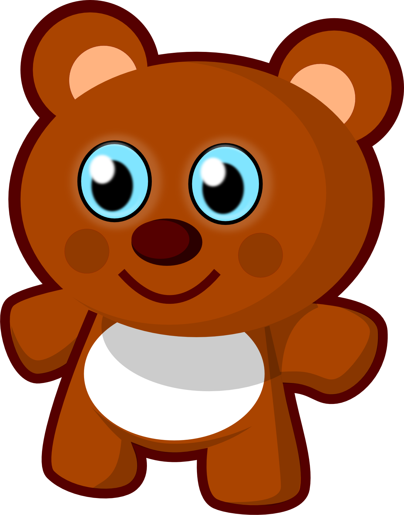 Brown clipart at getdrawings. Cute bear png clipart royalty free stock