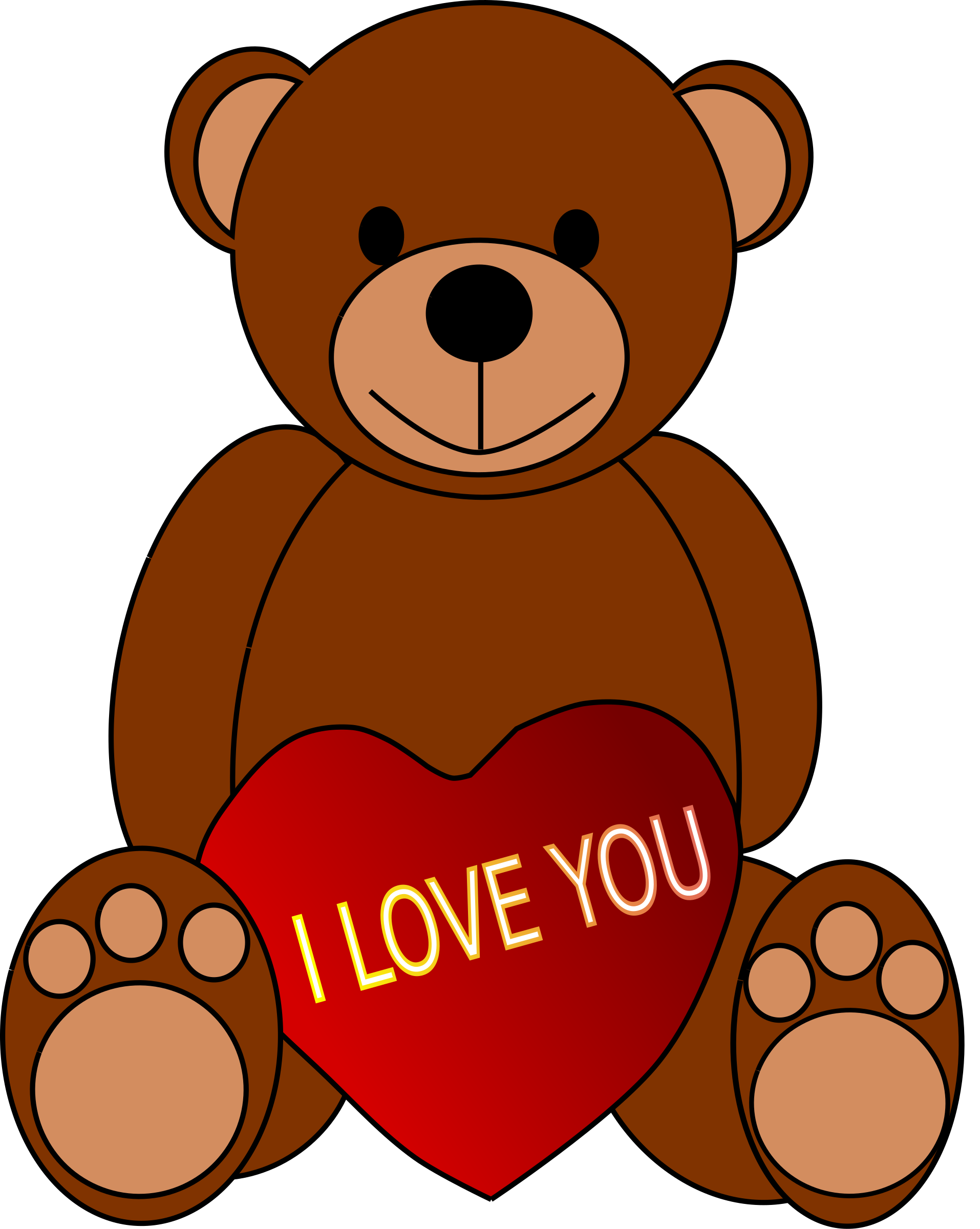 Teddy clipart day. Valentine s bear big