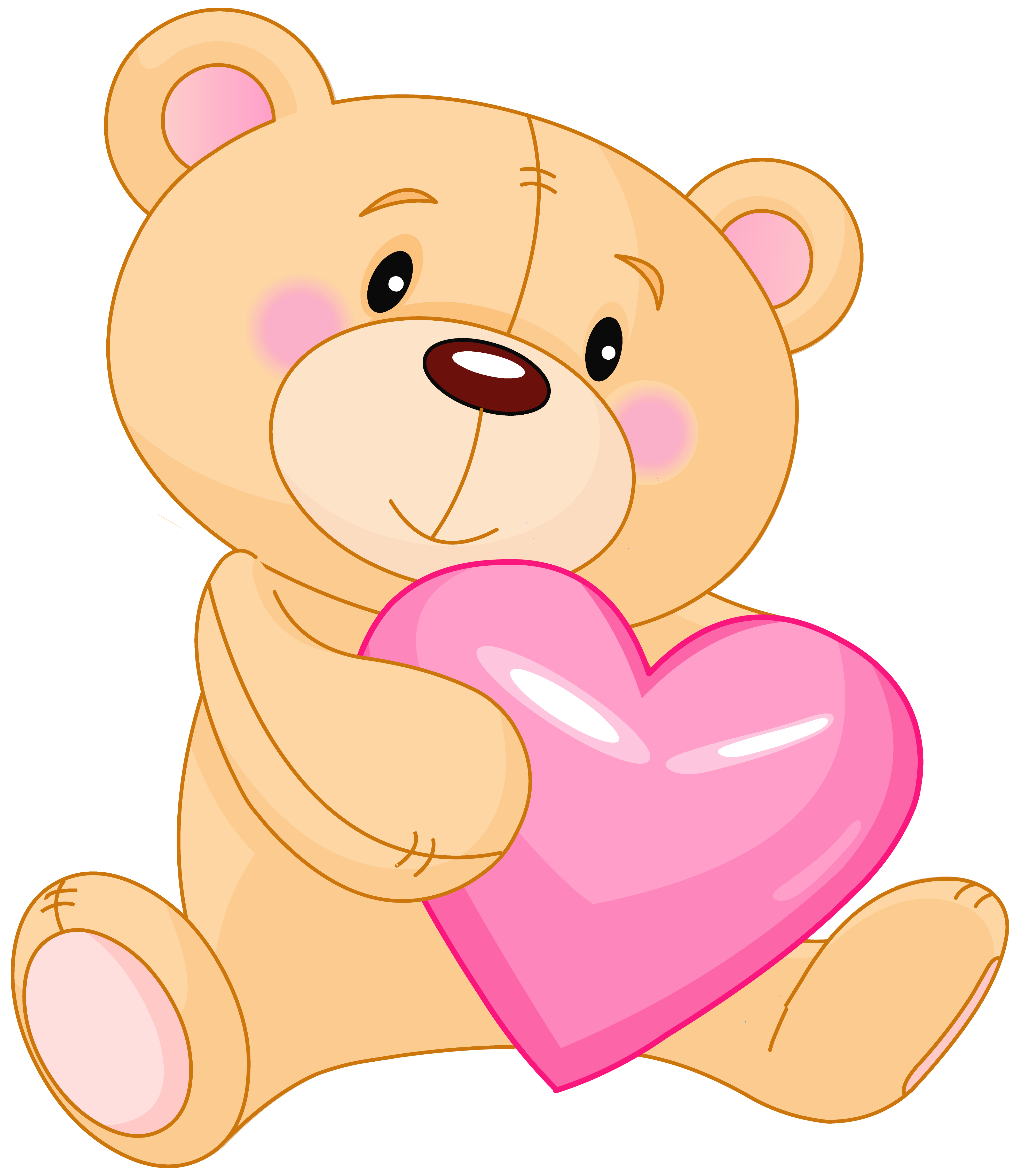Valentine transparent cute. Teddy with heart clipart