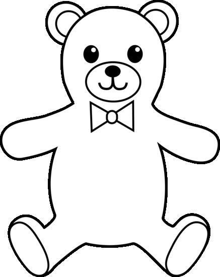Teddy clipart sketch. Bear drawing outline at