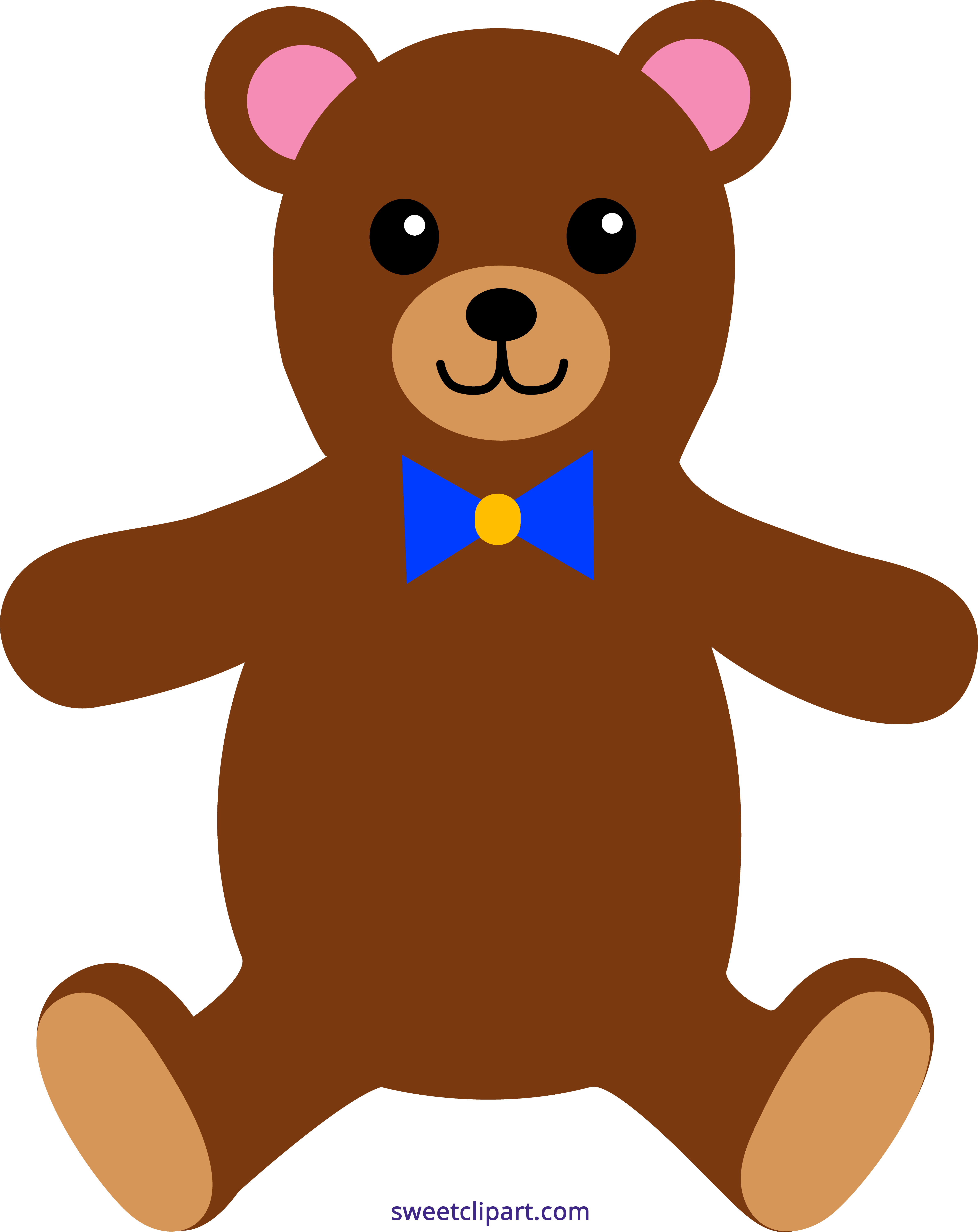 Teddy bear sweet clip. Brown clipart png transparent library