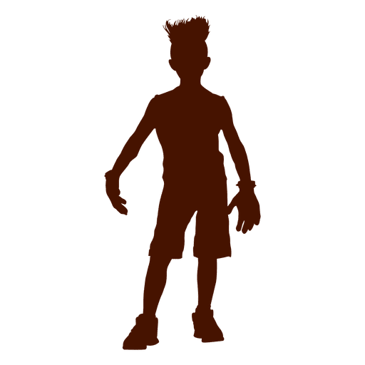 Teen boy png. Bad standing silhouette transparent