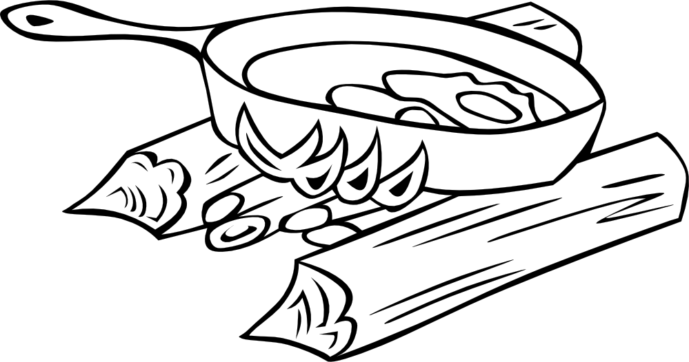 Utensils vector black and white. Free picture of a