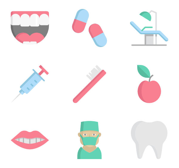 tooth icon packs. Dentist vector picture transparent