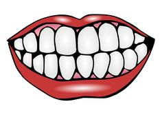 Happy tooth clip art. Teeth clipart black and white download