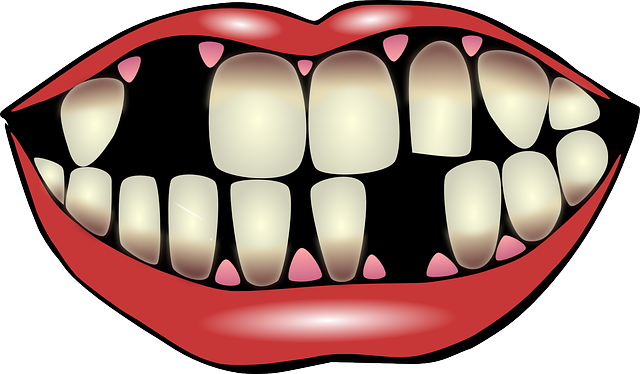 Strong clip tooth. Man smiling teeth clipart