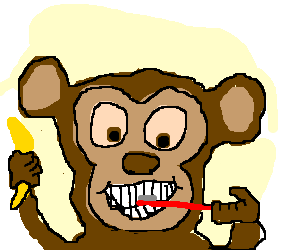 Teeth clipart monkey. A brushing its drawception
