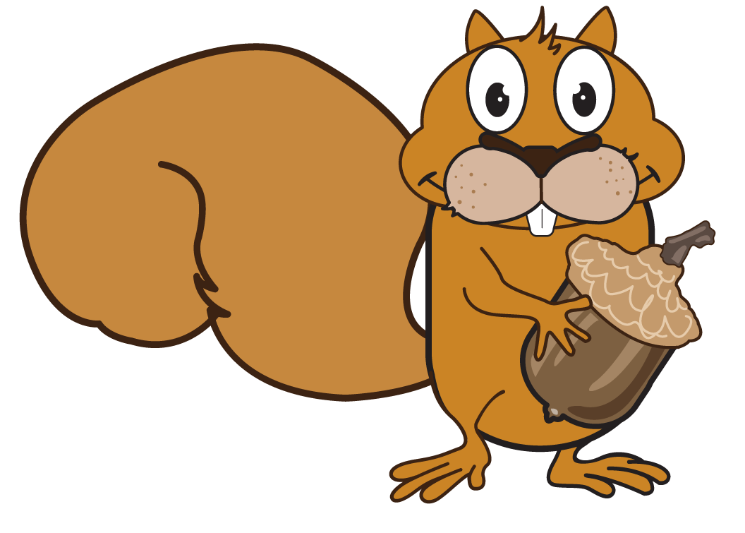 Cartoon buck group with. Teeth clipart squirrel vector black and white