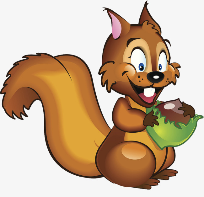Teeth clipart squirrel. Cartoon illustration the front