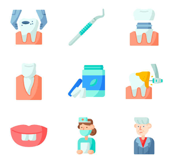 Teeth mark png. Tooth icons free vector