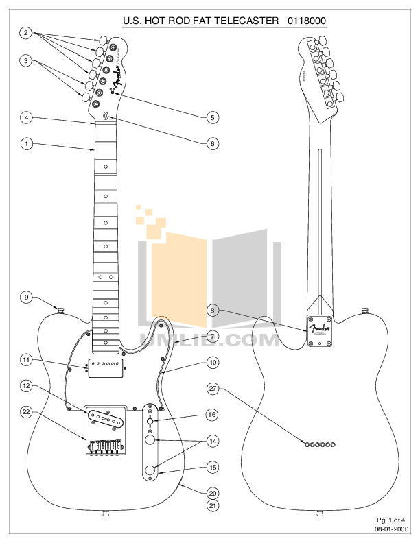 Telecaster Drawing Pdf Transparent Clipart Free Download