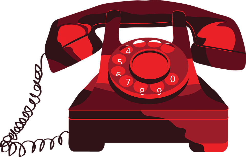 telephone clipart red telephone