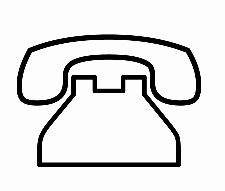 Telephone clipart. Best of black and