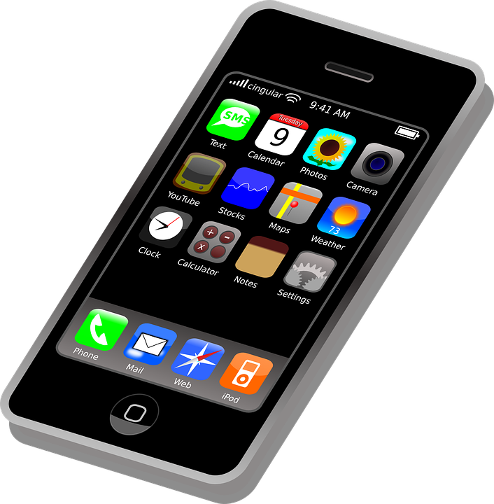 Animation vector iphone. Cell phone cartoon png